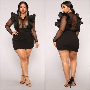 NWT fashion nova ruffle dress